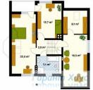 78-proekt.ru - Проект Одноквартирного Дома №340.  План Второго Этажа