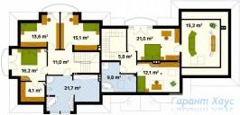 78-proekt.ru - Проект Двухквартирного Дома №3.  План Второго Этажа
