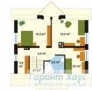 78-proekt.ru - Проект Одноквартирного Дома №168.  План Второго Этажа