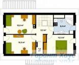 78-proekt.ru - Проект Одноквартирного Дома №176.  План Второго Этажа