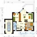 78-proekt.ru - Проект Одноквартирного Дома №169.  План Первого Этажа