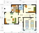 78-proekt.ru - Проект Одноквартирного Дома №149.  План Первого Этажа