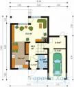 78-proekt.ru - Проект Одноквартирного Дома №267.  План Первого Этажа