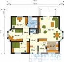 78-proekt.ru - Проект Одноквартирного Дома №229.  План Первого Этажа