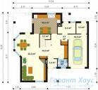 78-proekt.ru - Проект Одноквартирного Дома №327.  План Первого Этажа