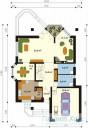 78-proekt.ru - Проект Одноквартирного Дома №254.  План Первого Этажа