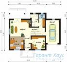 78-proekt.ru - Проект Одноквартирного Дома №73.  План Первого Этажа