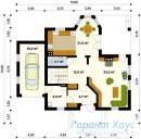 78-proekt.ru - Проект Одноквартирного Дома №93.  План Первого Этажа