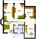78-proekt.ru - Проект Одноквартирного Дома №341.  План Второго Этажа