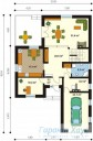 78-proekt.ru - Проект Одноквартирного Дома №243.  План Первого Этажа