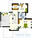 78-proekt.ru - Проект Одноквартирного Дома №183.  План Второго Этажа