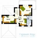 78-proekt.ru - Проект Одноквартирного Дома №22.  План Второго Этажа