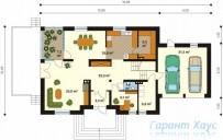 78-proekt.ru - Проект Одноквартирного Дома №320.  План Первого Этажа