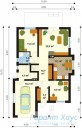 78-proekt.ru - Проект Одноквартирного Дома №318.  План Первого Этажа