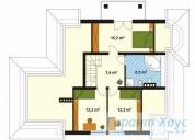 78-proekt.ru - Проект Одноквартирного Дома №206.  План Второго Этажа