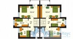 78-proekt.ru - Проект Двухквартирного Дома №7.  План Второго Этажа