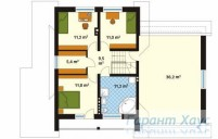 78-proekt.ru - Проект Одноквартирного Дома №238.  План Второго Этажа
