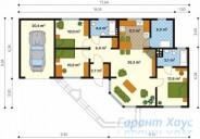 78-proekt.ru - Проект Одноквартирного Дома №279.  План Первого Этажа