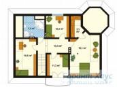 78-proekt.ru - Проект Одноквартирного Дома №65.  План Второго Этажа