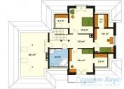 78-proekt.ru - Проект Одноквартирного Дома №5.  План Второго Этажа