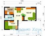 78-proekt.ru - Проект Дачного Дома №1.  План Первого Этажа