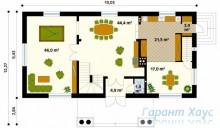 78-proekt.ru - Проект Одноквартирного Дома №137.  План Первого Этажа