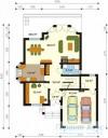 78-proekt.ru - Проект Одноквартирного Дома №108.  План Первого Этажа