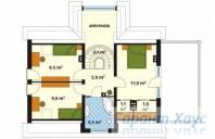 78-proekt.ru - Проект Одноквартирного Дома №319.  План Второго Этажа