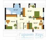 78-proekt.ru - Проект Одноквартирного Дома №49.  План Второго Этажа