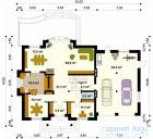 78-proekt.ru - Проект Одноквартирного Дома №37.  План Первого Этажа