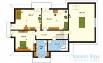 78-proekt.ru - Проект Одноквартирного Дома №7.  План Второго Этажа