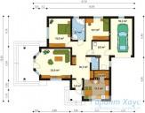 78-proekt.ru - Проект Одноквартирного Дома №55.  План Первого Этажа