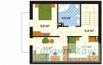78-proekt.ru - Проект Одноквартирного Дома №118.  План Второго Этажа