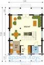 78-proekt.ru - Проект Дачного Дома №9.  План Первого Этажа