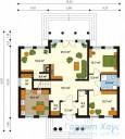 78-proekt.ru - Проект Одноквартирного Дома №222.  План Первого Этажа