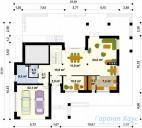 78-proekt.ru - Проект Одноквартирного Дома №213.  План Первого Этажа