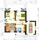 78-proekt.ru - Проект Одноквартирного Дома №242.  План Первого Этажа