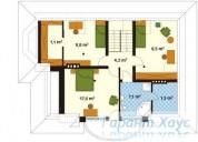 78-proekt.ru - Проект Одноквартирного Дома №19.  План Второго Этажа
