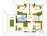 78-proekt.ru - Проект Одноквартирного Дома №70.  План Второго Этажа