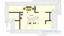 78-proekt.ru - Проект Одноквартирного Дома №333.  План Второго Этажа