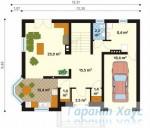 78-proekt.ru - Проект Одноквартирного Дома №130.  План Первого Этажа