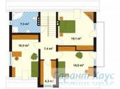 78-proekt.ru - Проект Одноквартирного Дома №233.  План Второго Этажа