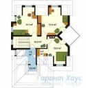 78-proekt.ru - Проект Одноквартирного Дома №191.  План Второго Этажа