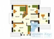 78-proekt.ru - Проект Одноквартирного Дома №58.  План Второго Этажа
