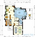 78-proekt.ru - Проект Одноквартирного Дома №199.  План Первого Этажа