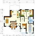 78-proekt.ru - Проект Одноквартирного Дома №105.  План Первого Этажа