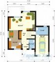 78-proekt.ru - Проект Одноквартирного Дома №268.  План Первого Этажа