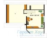 78-proekt.ru - Проект Одноквартирного Дома №282.  План Второго Этажа