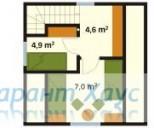 78-proekt.ru - Проект Дачного Дома №5.  План Второго Этажа