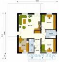 78-proekt.ru - Проект Одноквартирного Дома №96.  План Первого Этажа
